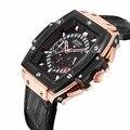 Neue Luxus Marke JEDIR Männer Uhren fashion Pirate Hohl Leder Uhr Männlichen Casual Sport Uhr Männer Luminous Handgelenk Quarzuhr-in Quarz-Uhren aus Uhren bei