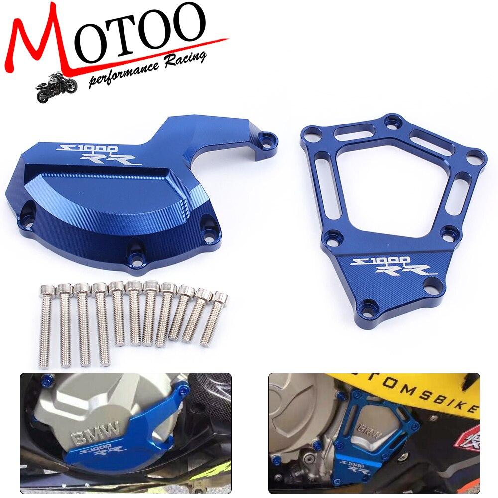 Motoo-Caso Protetor Protetor de Motor Da Motocicleta Do Estator Capa Slider Protetor para BMW S1000RR 2009-2015