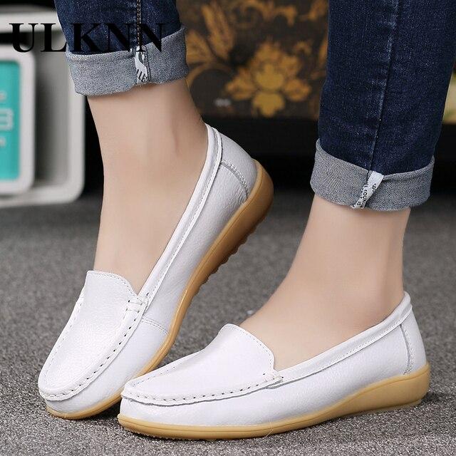 Ulknn mocassini scarpe orange bianco nero taglia 35-41 appartamenti con scarpe  di cuoio genuino 39cd9254781