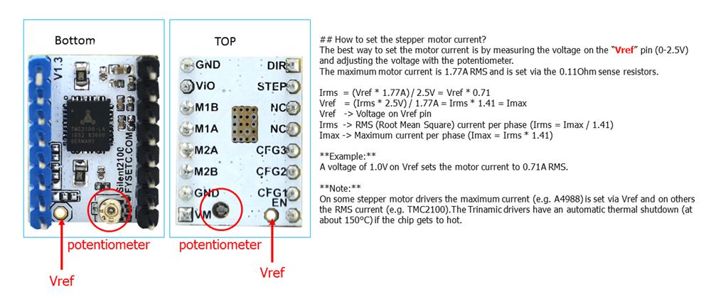 4pcs Lot Super Silent V1 3 Tmc2100 Stepper Motor Driver Stepstick For 3d Printer Accessory Stepstick Tmc2100 Mks V1 3mks Tmc2100 Aliexpress