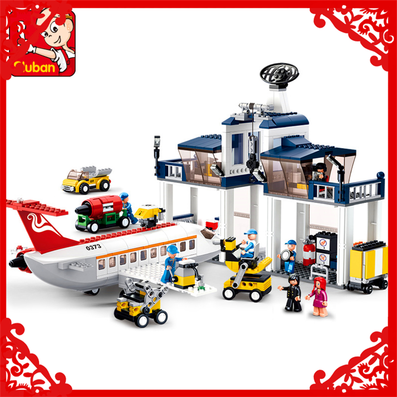 SLUBAN 0373 Block Aviation Maintenance Base Model 826Pcs DIY Educational  Building Toys For Children Compatible Legoe sluban 2500 block vehicle maintenance repair station 414pcs diy educational building toys for children compatible legoe