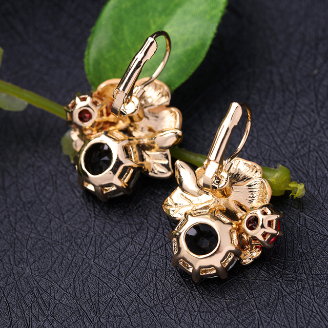 Kvetinové náušnice VEĽKÝ KVET Floral Drop Earrings BIG FLOWER