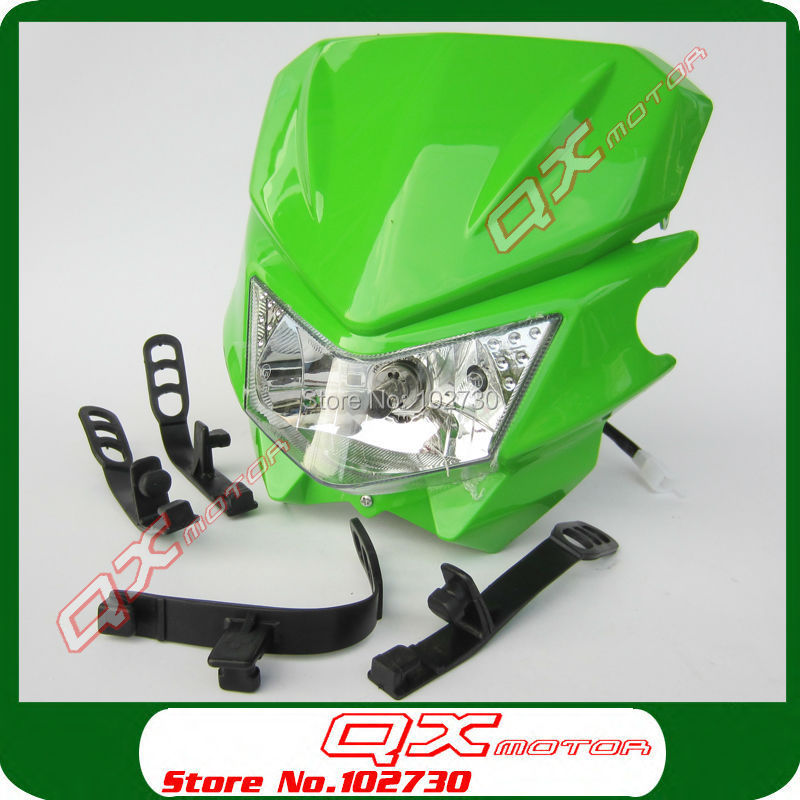 Байк Мотоцикл Универсальный Видение фара Fit Kawasaki KLX110 Fit Off Road Dirt ямы CRF KLX мотокросс