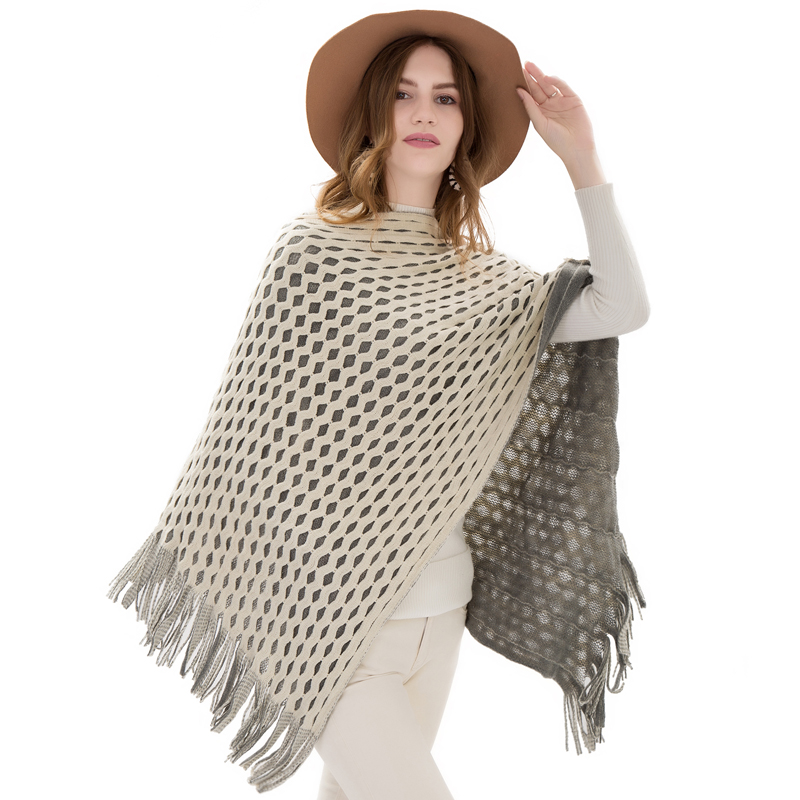 2018 Fashion Winter Women Cotton Scarves Warm Soft Clothes Cashmere Hollow Plaid Tassel Shawls Capes Winter Ladies Pashmina in Women 39 s Scarves from Apparel Accessories