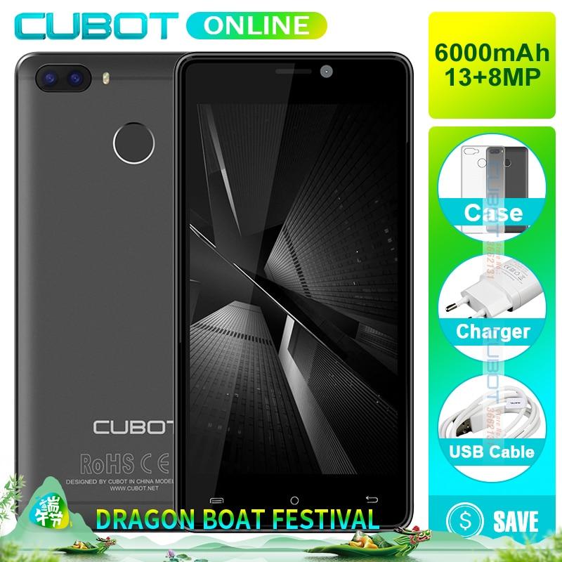 Cubot H3 Fingerprint 5.0 HD MT6737 Quad Core 3GB RAM 32GB ROM Smartphone Dual Back Cameras Android 7.0 Celular 6000mAh 4G LTE
