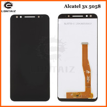 цена на new 5.7inch For alcatel 3x 5058i 5058y 5058 LCD Assembly Display + Touch Screen Panel Replacement for alcatel 5058 Cell Phone