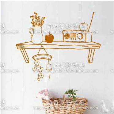 Table b bookshelf tabourers simple decoration diy wall stickers