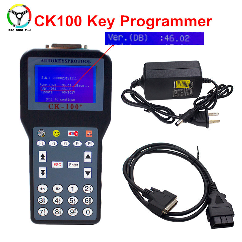 Newest CK100 V46.02 Auto Key Programmer Latest Generation of Silca SBB CK-100 OBD2 Key Transponder 46.02 Support Multi-language original obdstar vag pro auto key programmer no need pin code support new models and odometer vag key programmer free shipping