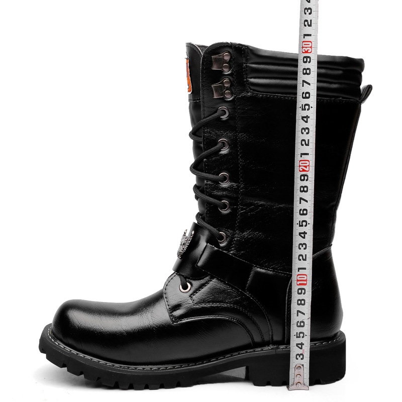 US $38.98 40% OFF|OUDINIAO Armee Stiefel Männer Lace Up
