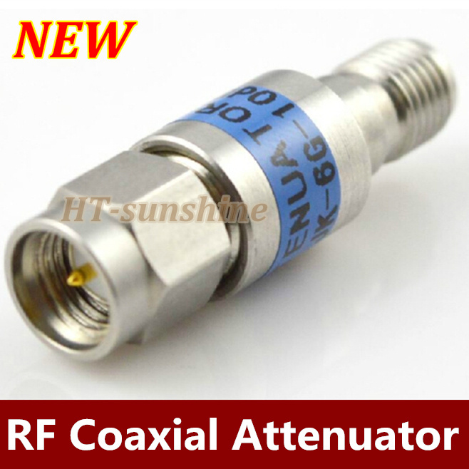 Free shipping  1PCS/LOT  SMA attenuator SMA male plug to female Jack connector adaptor DC-6GHZ 10dB power attenuators zinuo 1pc dc power jack splitter adapter connector cable 1 dc female to 2 3 4 5 6 male plug for cctv camera led strip light