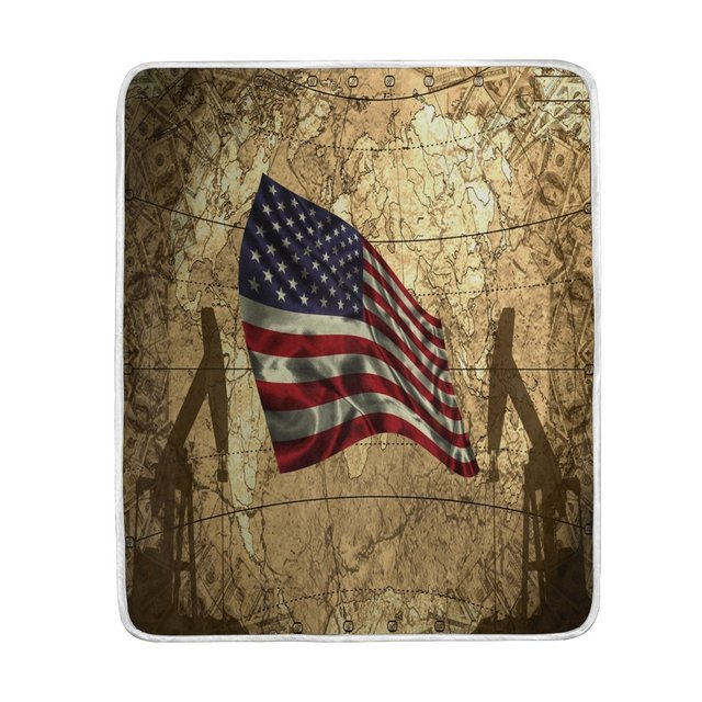 american flag vintage world map blanket soft warm cozy bed couch lightweight polyester microfiber blanket