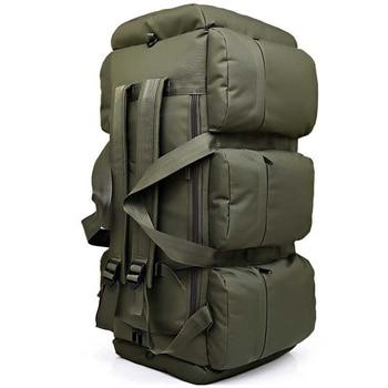 Hot 90L Large Capacity Men's Military Tactical Backpack Waterproof Oxford Hiking Camping Backpacks Wear-resisting Travel Bag 4