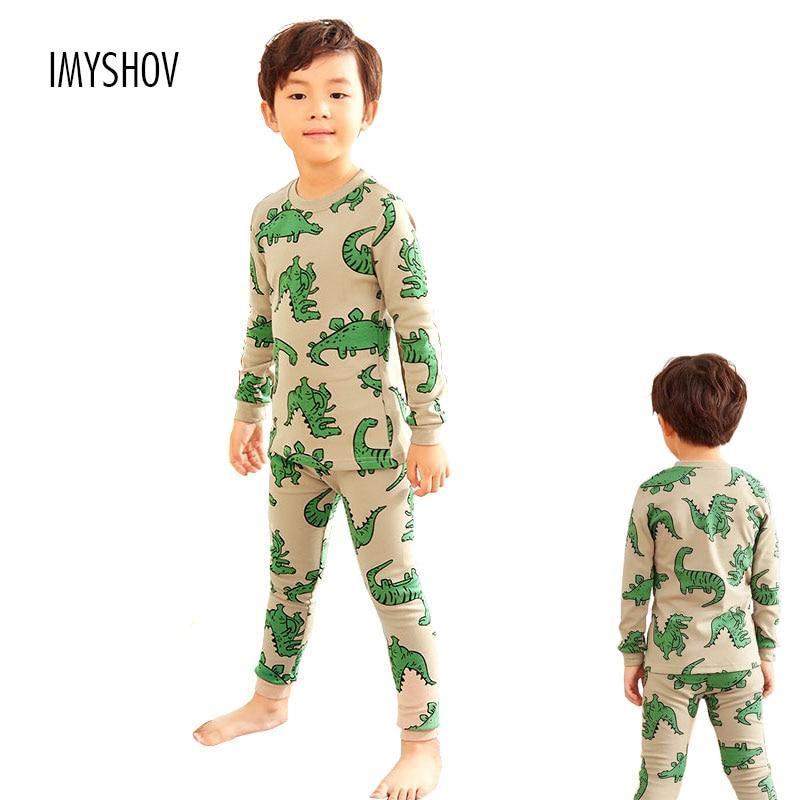 09cdcebe8f 2018 Autumn Winter Children Dinosaur Cartoon Pajamas For Boys Sleepwear  Kids Pajamas Long Sleeve Cotton Toddler Baby Boy Pyjamas