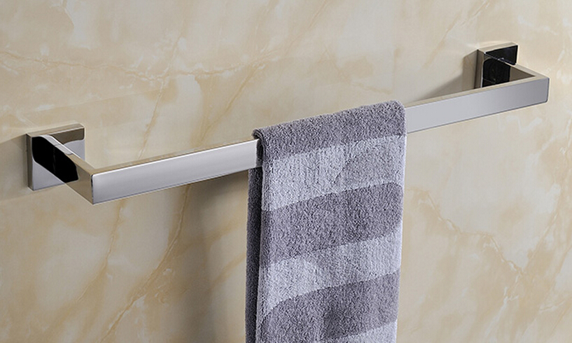 Free Shipping SUS304 stainless steel mirror (60cm)Single Towel Bar,Towel rail/holder Stainless Steel Construction SM020