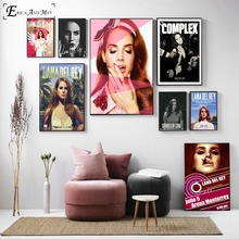 Lana Del Rey Pop Art Cotton Canvas Print Painting Poster Wall Pictures For Living Room Home Decor No Frame On Sale