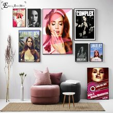 c11222dfb7ccf Lana Del Rey Pop Art Cotton Canvas Art Print Painting Poster Wall Pictures  For Living Room