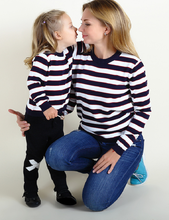 Baby Girls Sweater Winter Matching Mother Daughter DSweater Plus Size Lady Striped Cotton Family Clothing Vestidos