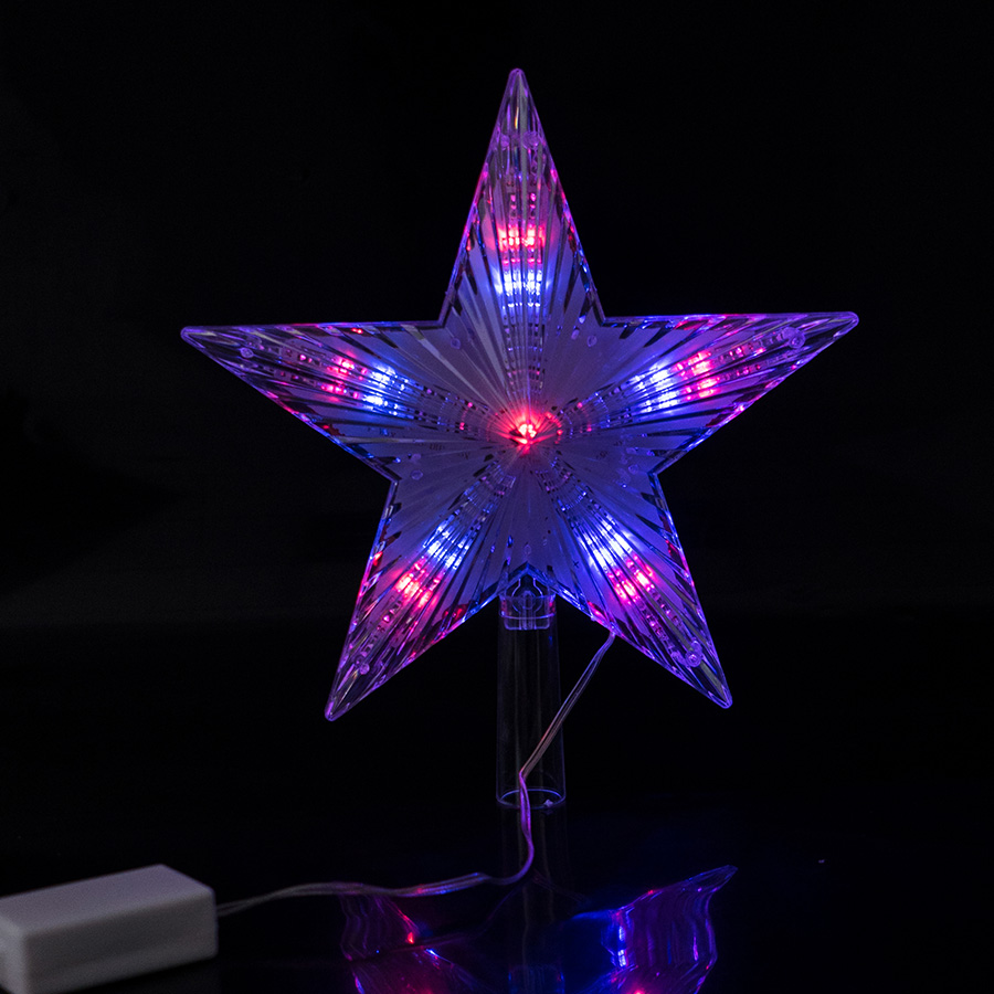 Coversage Christmas Tree Top Star Led String Fairy Lights Curtain Led Christmas Xmas Wedding Decoration Party Garden Holiday 3