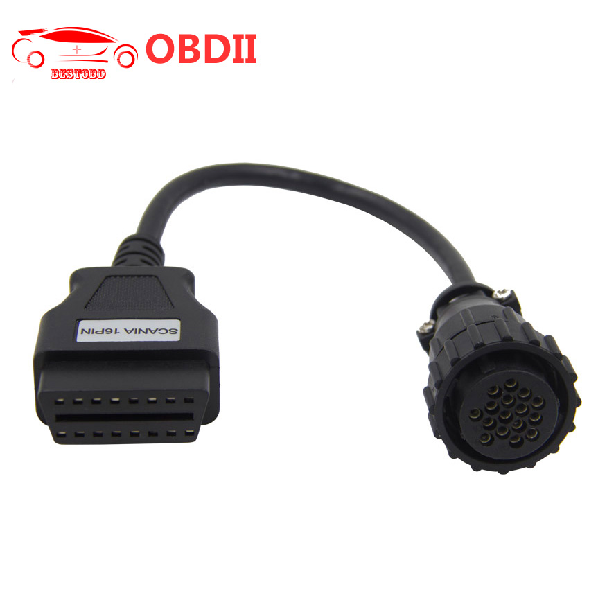 Prix pour TCS CDP Pro Adaptateur OBD2 16Pin Câble Camion pour SCANIA Outil De Diagnostic TCS CDP + Connecteur
