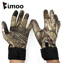 Bimoo M L XL Camo balıkçılık eldivenleri tüm parmak kaymaz sürme kamp eldiven bahar sonbahar sazan balıkçılık avcılık