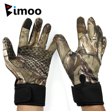 Bimoo M L XL Camo Fishing Gloves All Finger Anti-Slip Riding Camping Gloves for Spring Autumn Carp Fishing Hunting