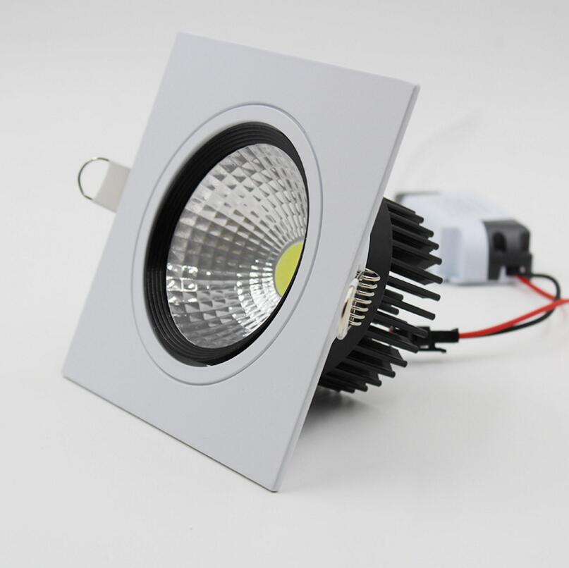 Usine vente directe de haute qualité Dimmable LED COB Downlight AC110V 220 V 10 W/15 W encastré LED Spot décoration plafonnier