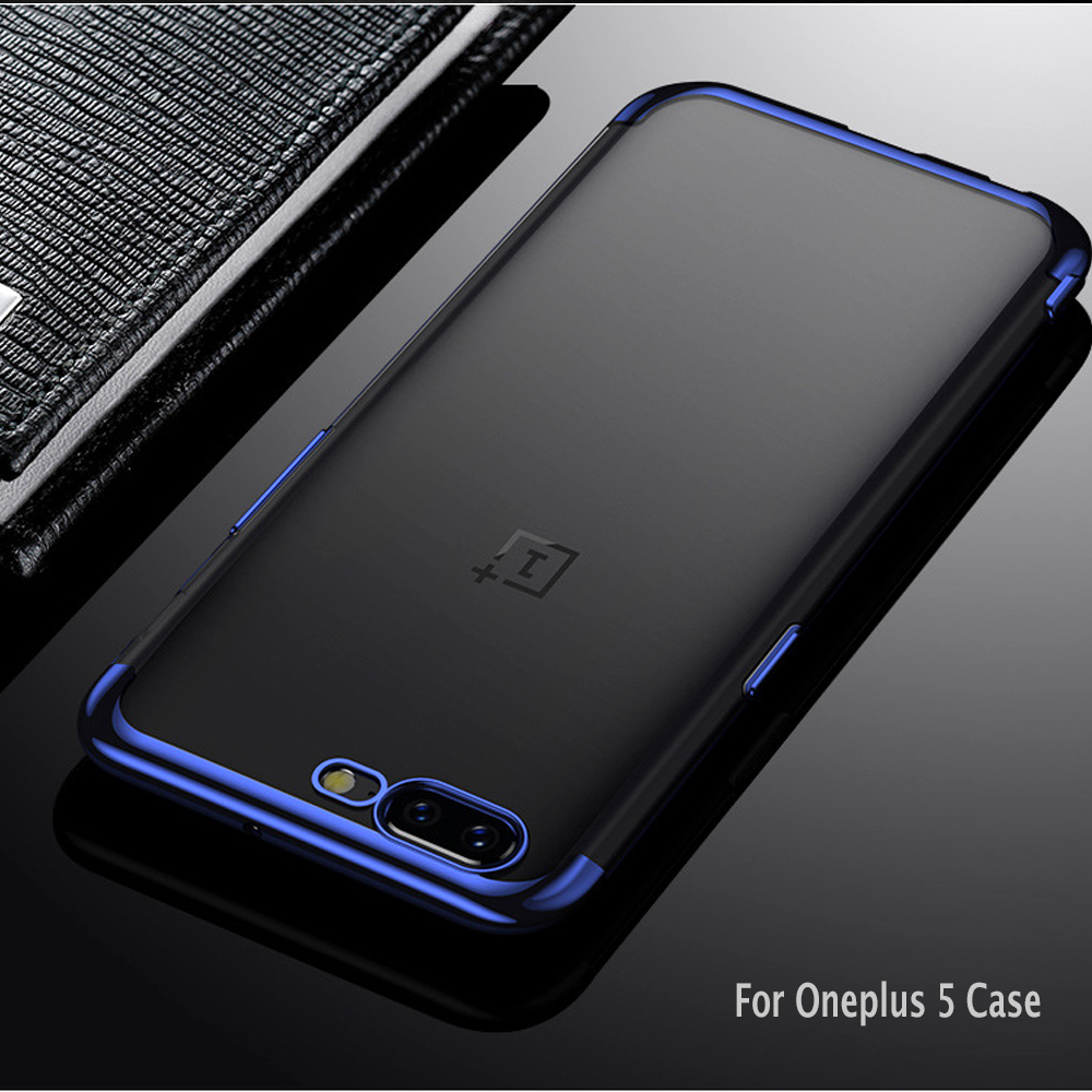 buy luxury original case for oneplus 5 case transparent silicone soft cover. Black Bedroom Furniture Sets. Home Design Ideas
