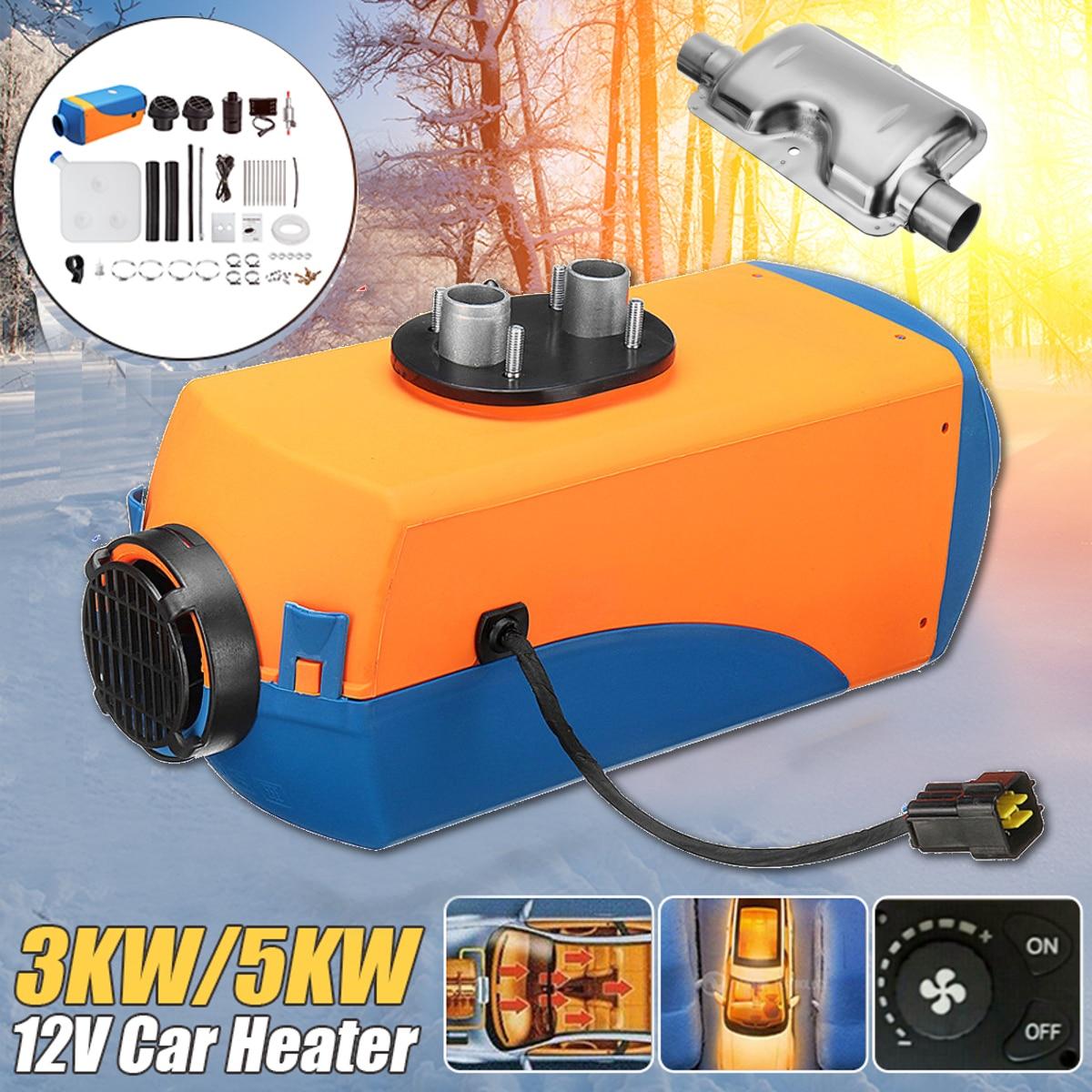 12 В 3KW/5KW дизелей Air парковка обогреватель Planar для дом на колесах грузовики лодки шины ручка переключателя автомобиля нагреватель с 1 xSilencer