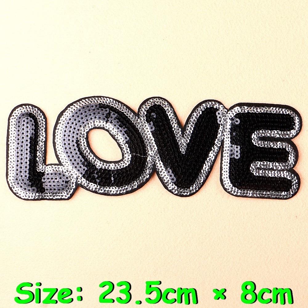 1Pcs Big Patches Brand Shine Sequin 3D Sticker Stickers Wing Rose Embroidery Motif Applique Garment Kids Women DIY Clothes Badge