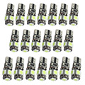 20pcs White Auto Wedge T10 Canbus 5 SMD T10 LED Canbus Car LED T10 Canbus W5w 194 501 5050 Error Free Automotive Light Bulb Lamp