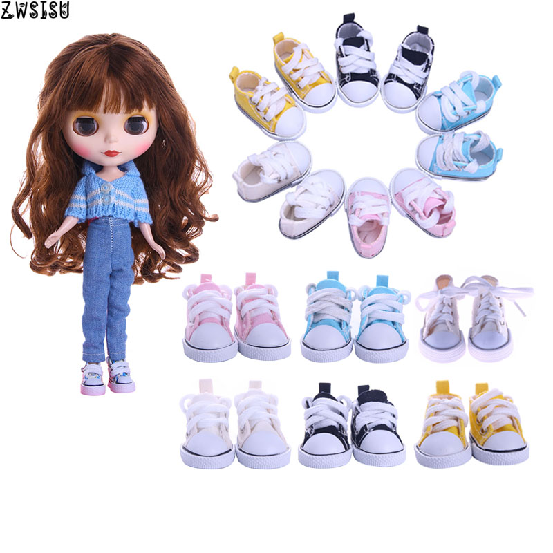 Blyth Doll Clothes Sweater+Jeans 5 Cm 1/6 Doll Canvas Shoes For BJD Doll Our Generation Christmas Girl`s Birthday Gifts Toy