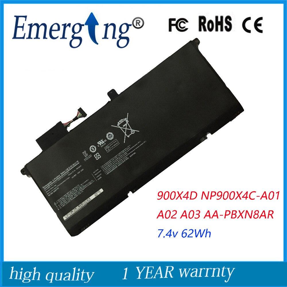7.4 V 62Wh Nouvel Ordinateur Portable Batterie pour Samsung 900X4D NP900X4C NP900X4B NP900X4C-A01 A02 900X4B-A01DE A03 AA-PBXN8AR PBXN8AR