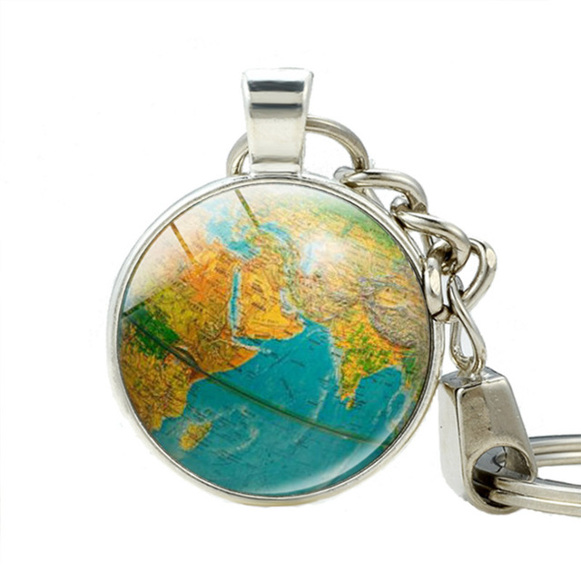 Aliexpress buy earth globe art pendant keychains teacher gift earth globe art pendant keychains teacher gift world travel adventurer key ring world map globe keychain gumiabroncs Image collections