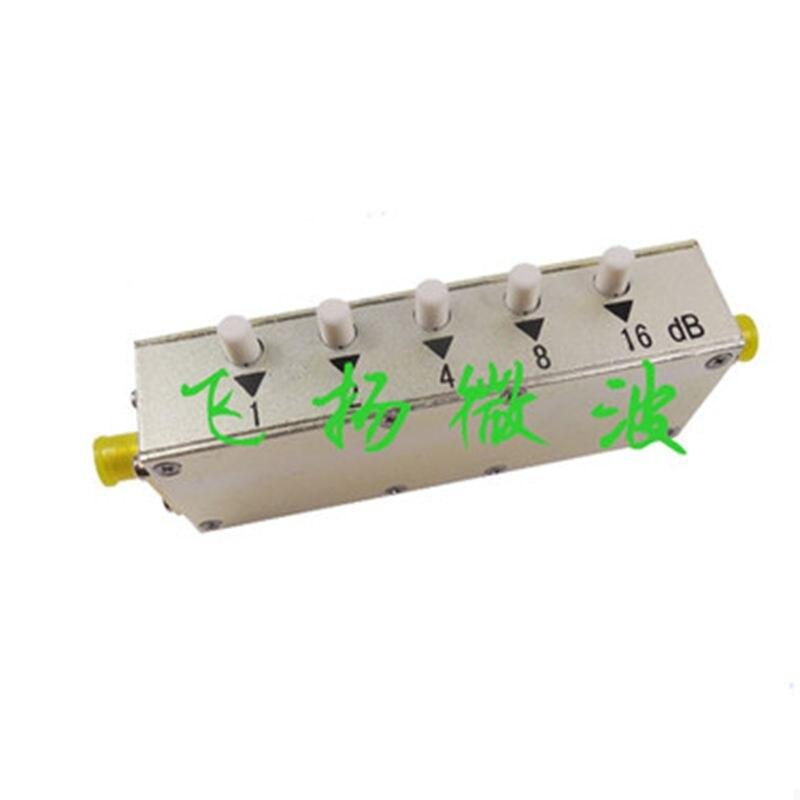 5Watt 0-60dB  Coaxial Adjustable Key-Press SMA-K-K RF step Attenuator Stepping,,DC to 2.5Ghz,freeshipping. 10x 5w watt 2r2 2 2 ohm 5