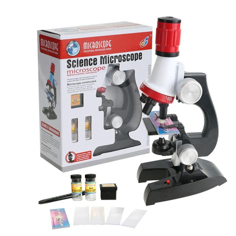 100X-1200X Kit de Microscope cadeau de jouet éducatif pour les enfants semblant jouer des jouets d'enseignement de laboratoire scolaire