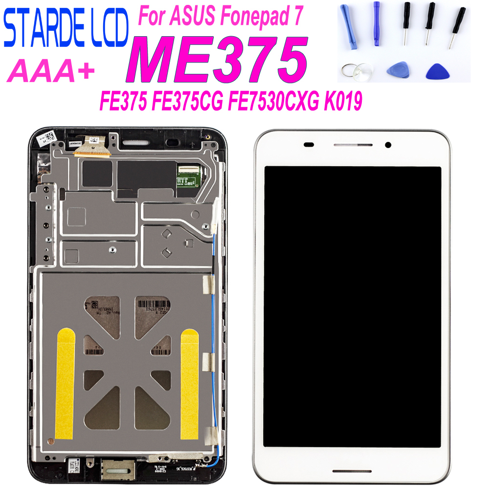 For ASUS Fonepad 7 FE375 FE375CG FE7530CXG ME375 FE375CXG FE375CL K019 LCD Display Touch Screen Digitizer Assembly With Frame