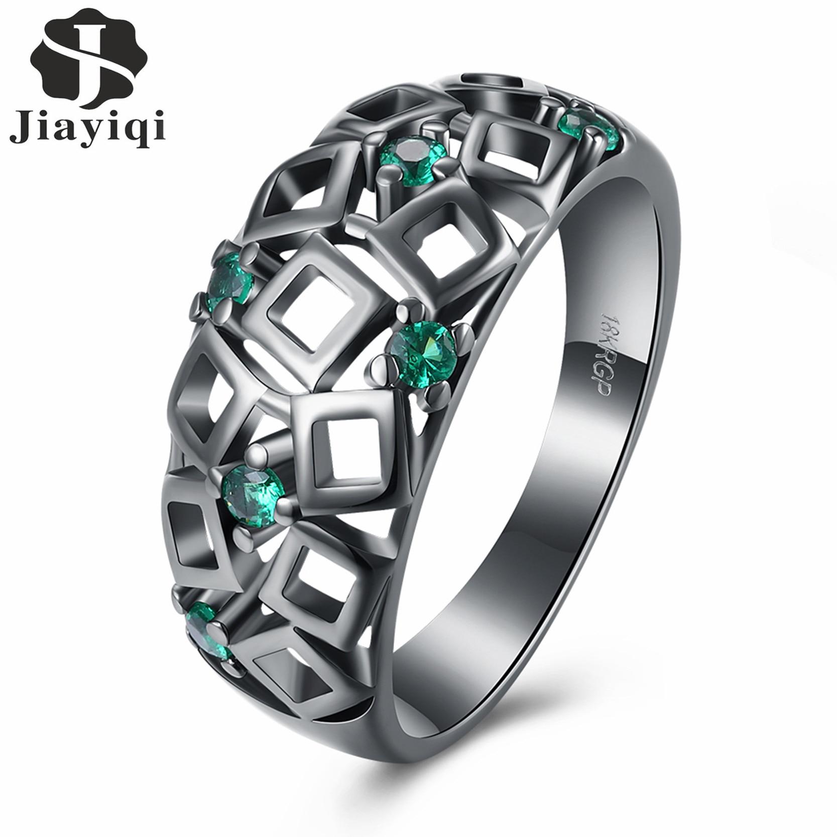 Black Stone Rings Engagement
