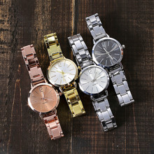 Casual Quartz Stainless Steel Band Marble Strap Watch Analog Wrist Watc