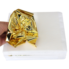 500PCS Grasping Taiwan K shiny Imitation gold leaf, gilding color like 24k gold free shipping