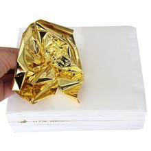 500PCS Grasping Taiwan K shiny Imitation gold leaf, gilding color like 24k free shipping