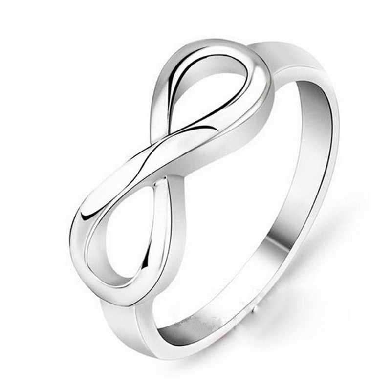 Korean Style Jewelry Simple Cute Sweet Ring Bague Bijoux Femme Lover Gift Small Silver Gold Ring Engagement Wedding Wholesale