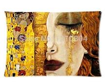 Austria Symbolon Artista y Gustav Klimt Pintura 50X75 cm Almohada Cubierta Barata Fundas de Almohada Para Descansar Una Cara Impresa