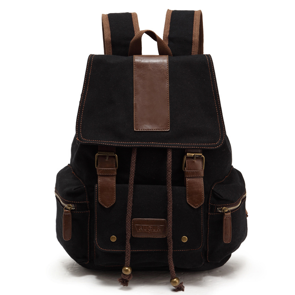 AUGUR Vintage Men Women Canvas Backpacks School Bags for Teenagers Boys Girls Large Capacity Laptop Travel Shoulder Bag Backpack roblox game casual backpack for teenagers kids boys children student school bags travel shoulder bag unisex laptop bags