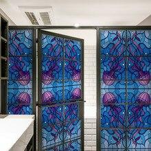 Static window sticker Glass Film Sticker privacy Home Decor decorative stained glass film 45/90x200cm17.7/35.4x78.7in