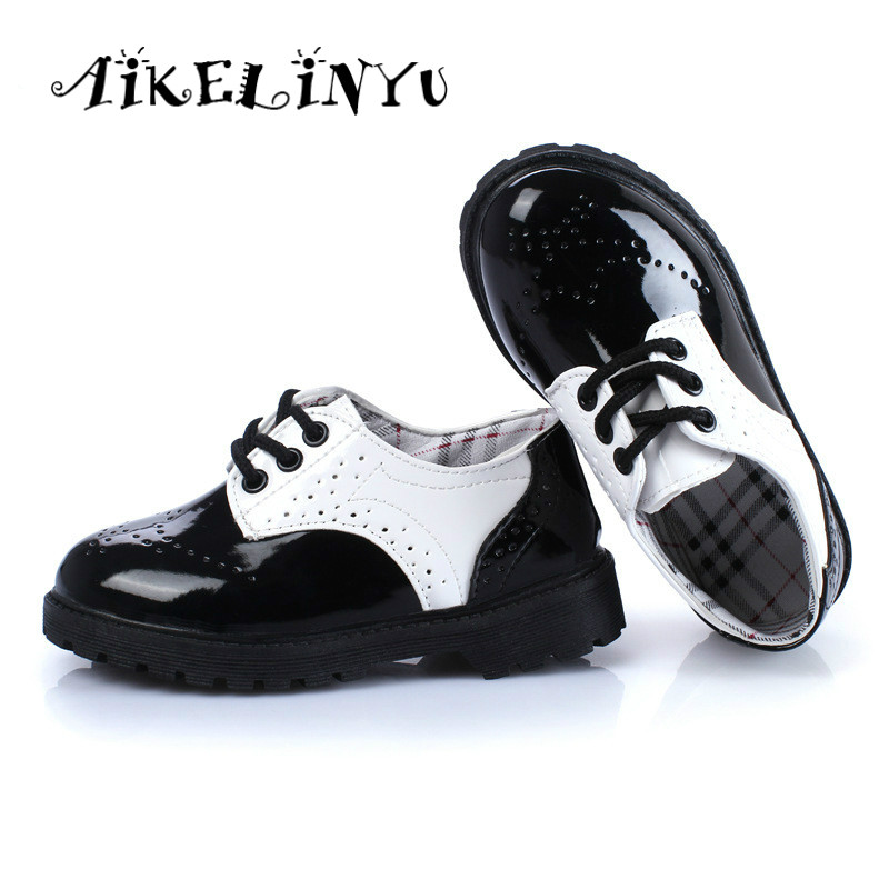 Aikelinyu children sneakers girls boys sport shoes 2016 spring baby flats children princess leather boots boys