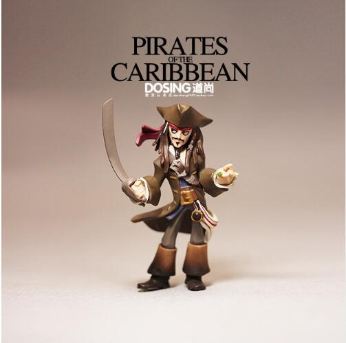 Animation Garage Kid The Pirates of the Caribbean Baby Toys Action Figure PVC Dolls Captain Jack