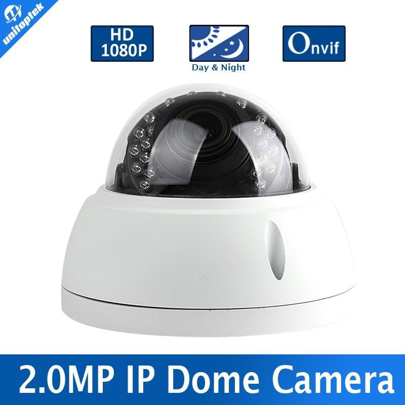 ФОТО Onvif 1920*1080 IP Camera 2MP 24Pcs IR Leds Security HD 1080P 2MP Network IR-CUT P2P Plug And Play 2.8-12mm Manual Lens
