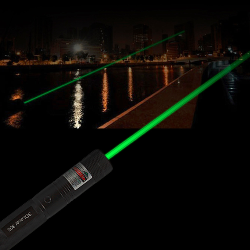1pcs Powerful SDLaser303 Adjustable Focus 532nm Green Laser Pointer Light Output power less than 1mw no battery new arrival