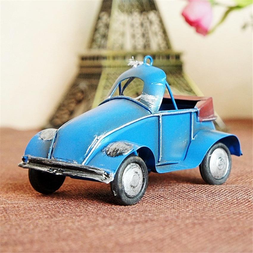 Ücretsiz kargo (3 adet / grup) Renkli mini retro araba modeli Eski - Ev Dekoru - Fotoğraf 2