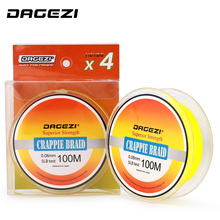 DAGEZI 4 Strand Braided Fishing Line 0.06MM/5LB Crapple Braided Multifilament Super Thin Fishing Lines Rope Leader Line